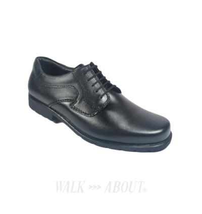 Walk About® Lace-up Shoes with Genuine Soft Cow Leather (912 057 Black 18)