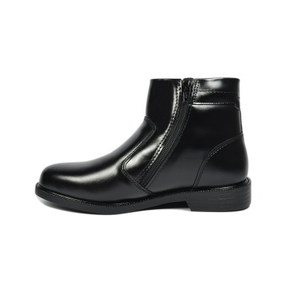 Walk About® Double Zip-up Boots with Smooth Cow Leather (3821 Black 06)