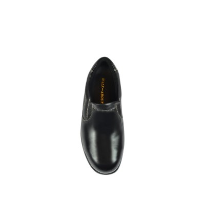 Walk About® Ladies Slip-on Safety shoes with Soft Cow Leather (7908 Black 18 SB P HRO)