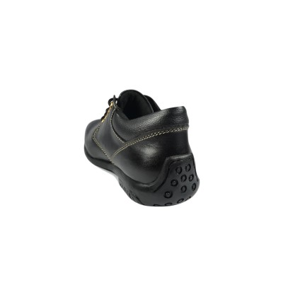 Walk About® Ladies Lace-up Safety shoes with Soft Cow Leather (7911 Black 18 SB P HRO)